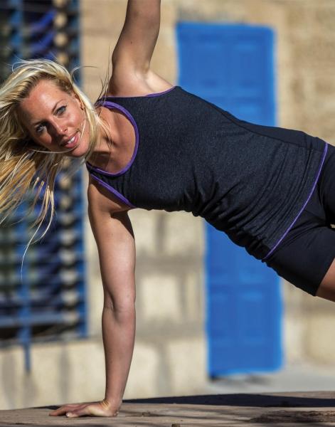 Fitness Women's Stringer Back Marl Top