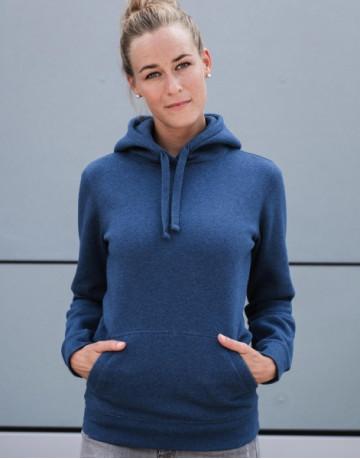 Ladies' Authentic Melange Hooded Sweat