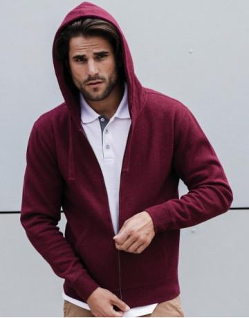 Men's Authentic Melange Zipped Hood Sweat