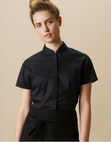 Women's Tailored Fit Mandarin Collar SSL