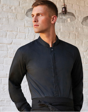 Tailored Fit Mandarin Collar Shirt