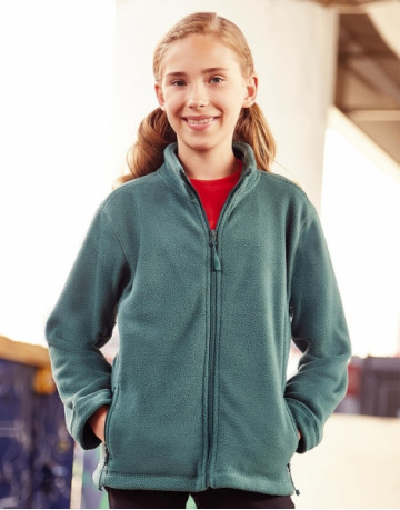 Kids Full Zip Outdoor Fleece