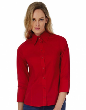 Milano/women Popelin Shirt 3/4 sleeves