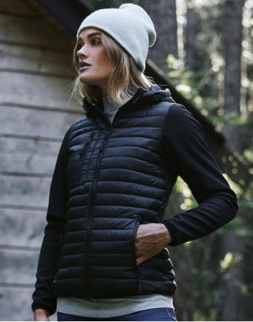 Ladies' Hooded Crossover Jacket