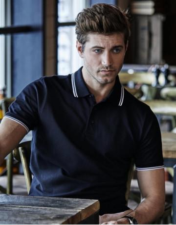 Luxury Stripe Stretch Polo